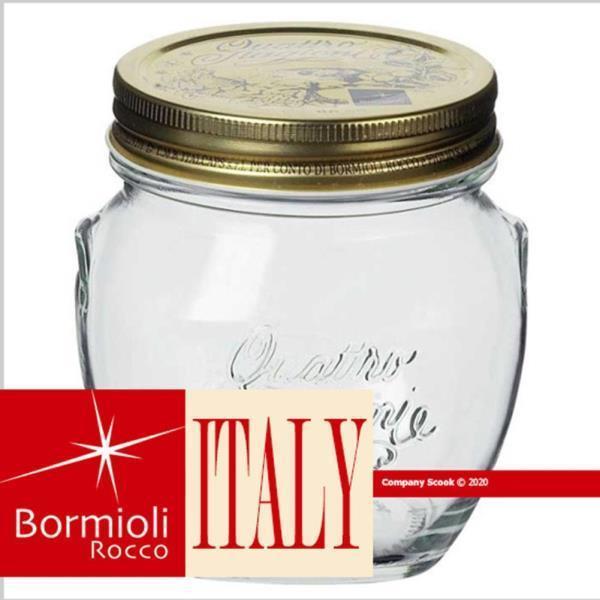 [보르미올리]이탈리아 콰트로보관밀폐용기안포라500ml