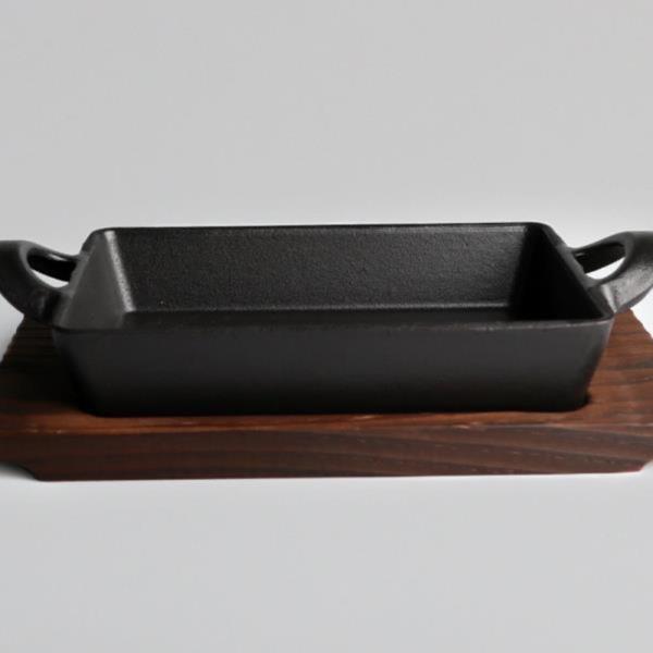 [벨르]클래식 무쇠통주물 서버 직사각팬2종/받침포함