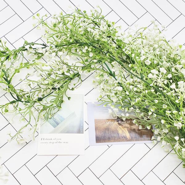컬러 등나무 대형 흰색
