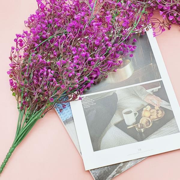 컬러 등나무 대형 분홍
