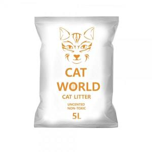 고양이 캣월드 무향 굵고 둥근 알갱이 모래 먼지 최소화 벤토 탈취효과 5LX4