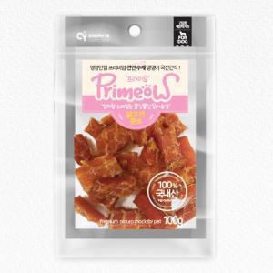 프리미요 수제 국산 간식 닭고기 큐브 100g