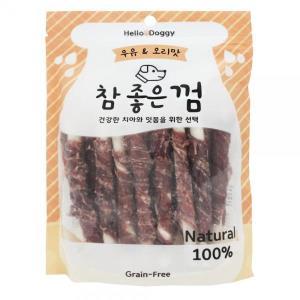 강아지 우유 소가죽 오리 껌 24p 그레인프리 개껌간식