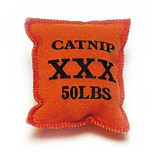 고양이 캣닢 자루 오렌지 주머니 캣잎 인형 장난감
