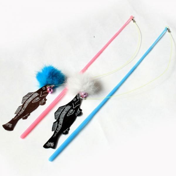 고양이 낚시대 물고기 생선 장난감 놀이 사냥 낚싯대
