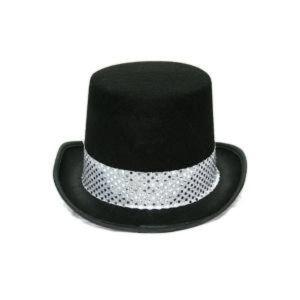 실버 스팡클 신사 모자