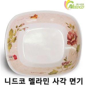 니드코 멜라민 사각 면기 1개 라면기 사발 면기 라면그릇 그릇