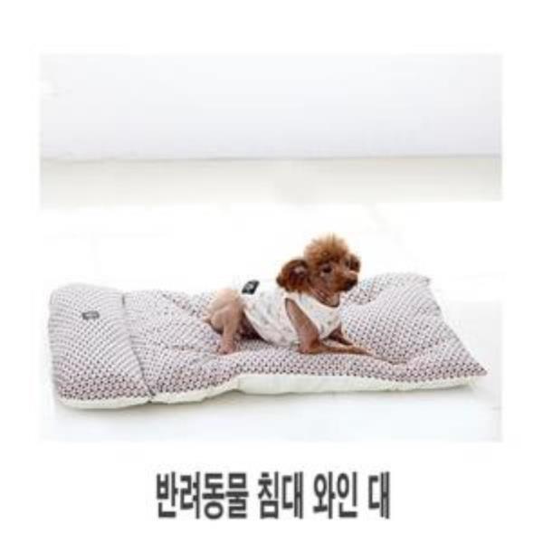 도그포즈 필로우 베드 와인 대 애견침대 강아지침대