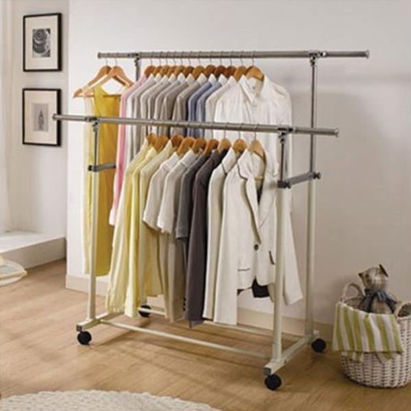2단 이동식행거 1P 옷걸이행거 철제행거 스텐드행거