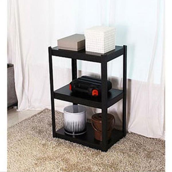 고릴라렉 블랙 600 3단 60cm 1P 앵글선반 조립식선반
