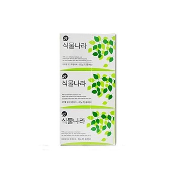 식물나라 비누 히노끼 퓨어바 100g X 3개입비누 비누
