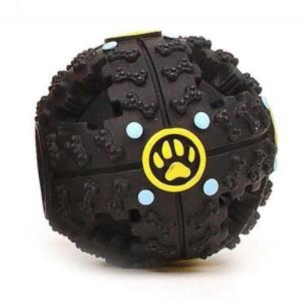 강아지공 소리나는 스낵볼 장난감 블랙 중 1개