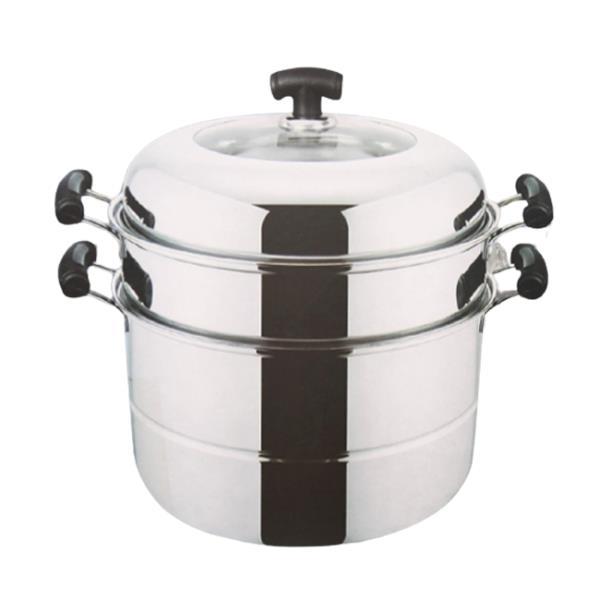 요리 조리 스텐 찜 솥 냄비 3단 32cm 1개 곰솥 들통