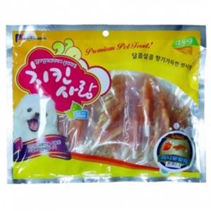 강아지 육포 사시미 미니닭갈비 400g 3개 강아지간식