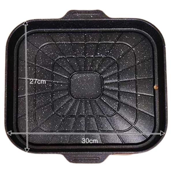 롯데 캠핑 사각 구이판 30cm 삼겹살 주물 고기판 생선