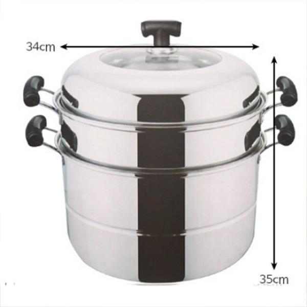 요리 조리 스텐 찜 솥 냄비 3단 34cm 1개 곰솥 들통