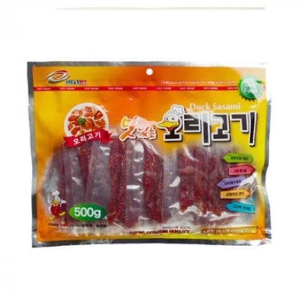 강아지 사시미 육포 오리슬라이스 (500g) 3개 강아지