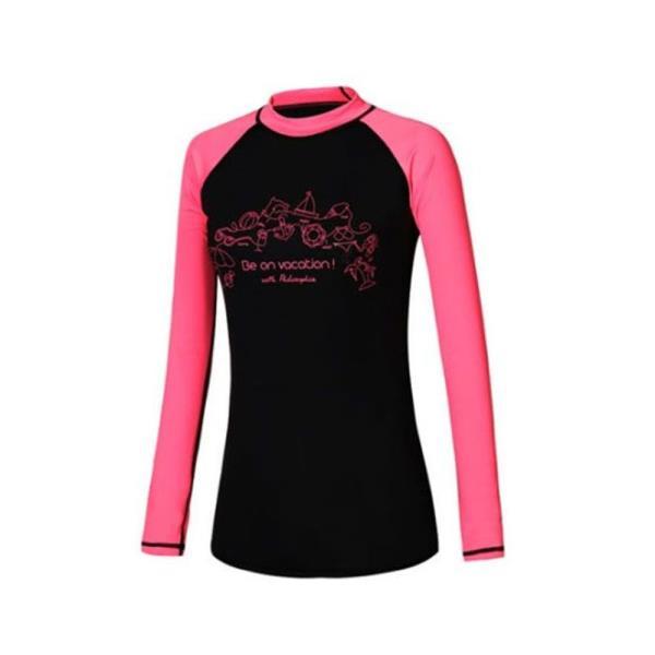 블랙 핑크 래쉬가드 1P 여자 비치웨어 수영복 상의