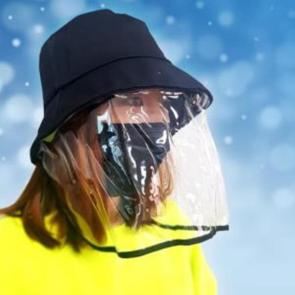 페이스 쉴드 방한 모자 1P 안면 투명 마스크 가림개