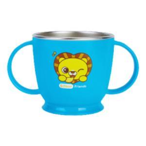 논슬립 스텐 양손컵 사자 1P 유아 식기 머그컵 물컵