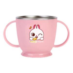 논슬립 스텐 양손컵 토끼 1P 유아 식기 머그컵 물컵