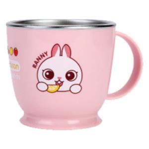 논슬립 스텐 한손컵 토끼 1P 유아 식기 머그컵 물컵