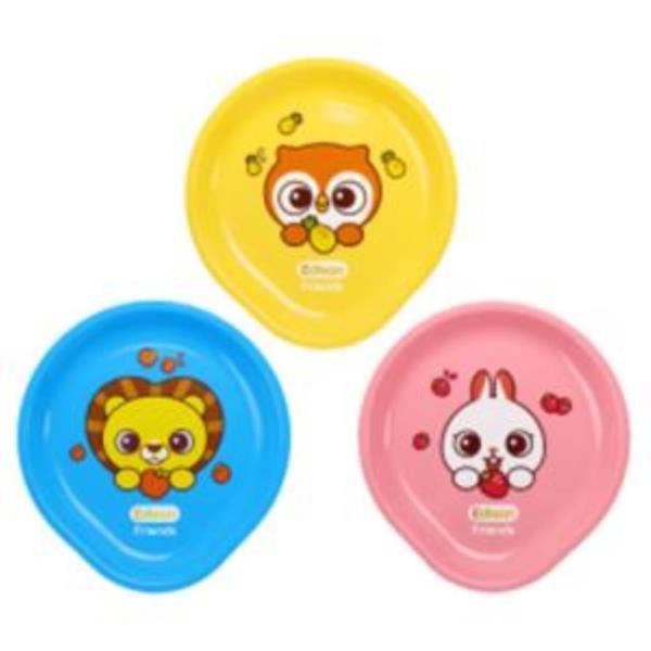 유아 접시 3종 세트 어린이 유치원 식판 그릇 식기