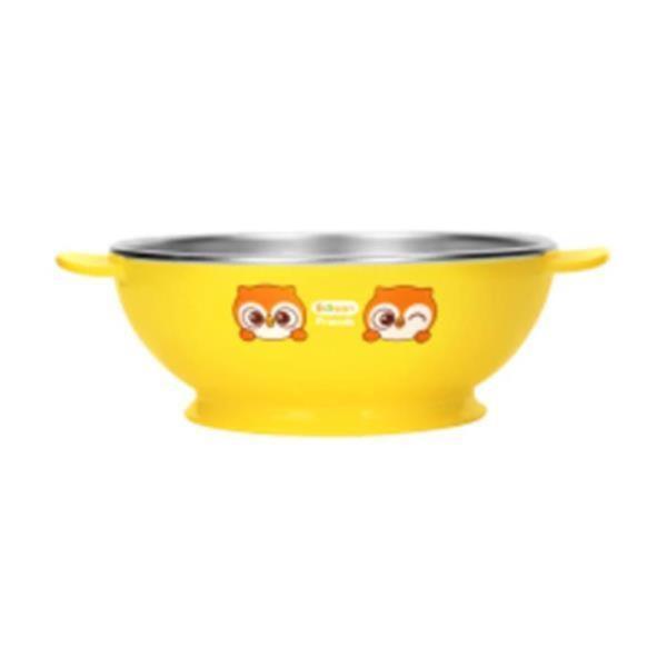 부엉이 논슬립 스텐 대접 1P유아 어린이 식기 접시