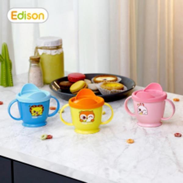 스텐 양손컵 사자 1개 유아 아기 어린이 물컵