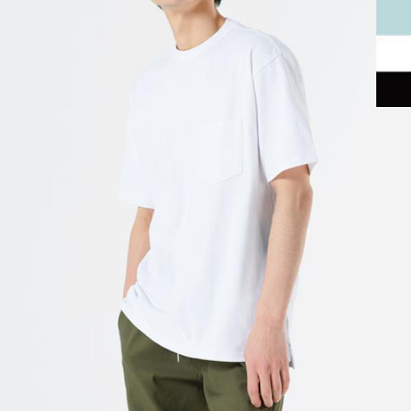 B3 남자 워싱 무지 반팔 티셔츠 여름 면티 반팔티