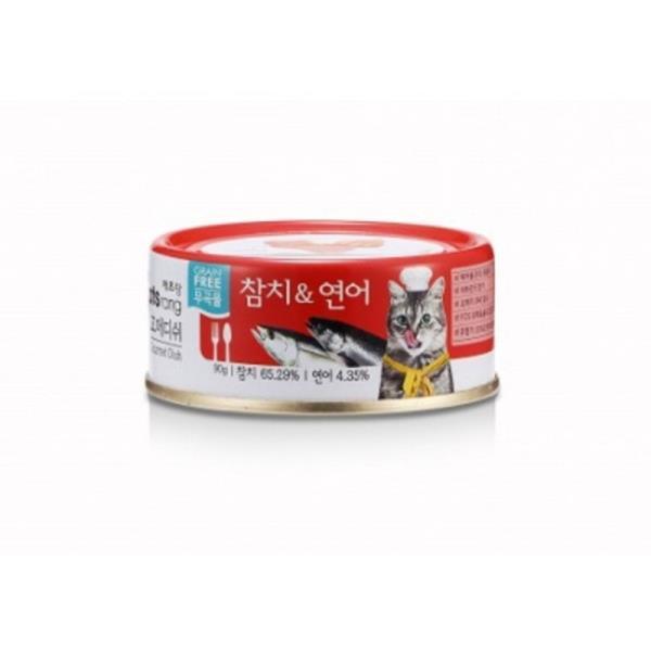 그레인프리 고양이 캔간식 90G 1P 참치 연어 전연령