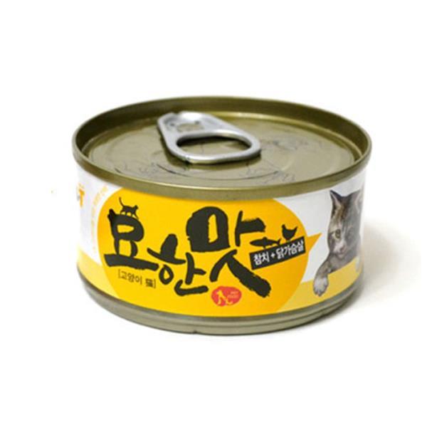고양이 참치캔 80G 1P 수분가득 닭가슴살 영양간식
