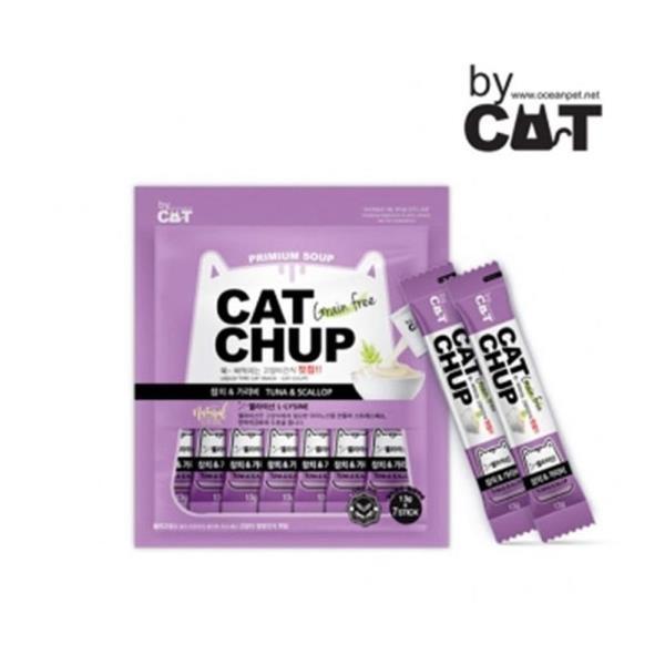고양이 참치 가리비 7개입 1P 짜먹는 간식 파우치