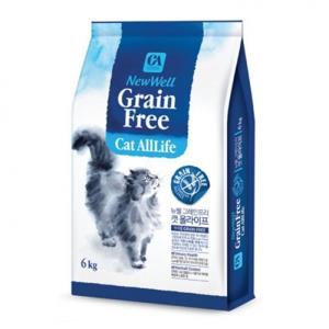 그레인프리 무곡물 고양이 냥이 사료 먹이 6kg 1P