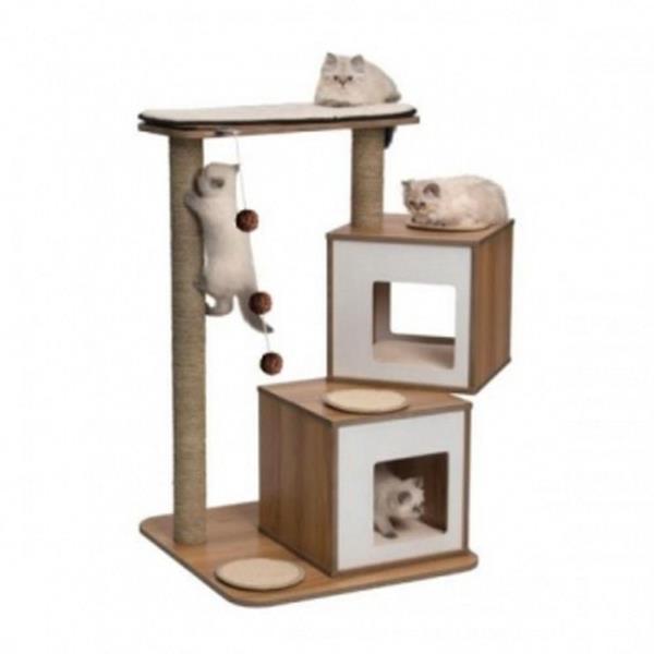 고양이 캣타워 월넛 반려묘 아지트 기둥 스크래쳐