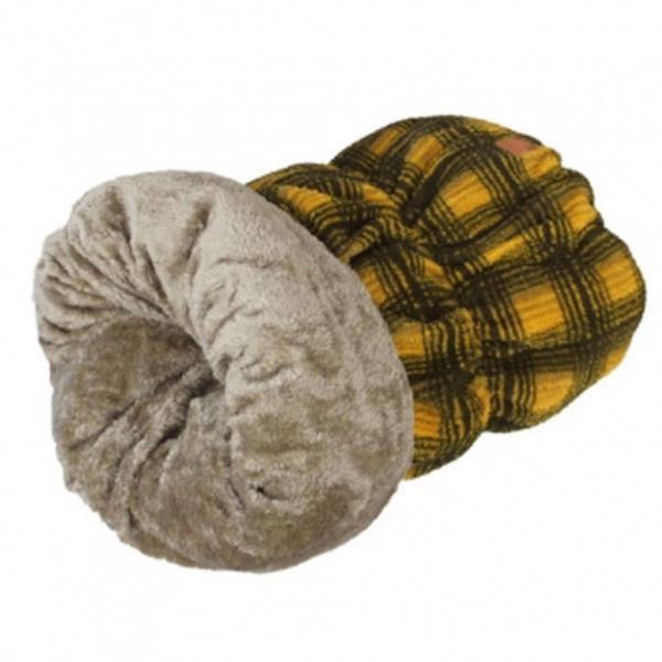 체크패턴 강아지 방석 옐로우 고양이 숨숨집 침대