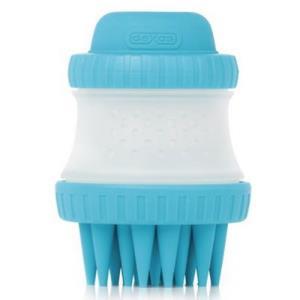 반려동물 샴푸 채워쓰는 목욕 실리콘 브러쉬 블루