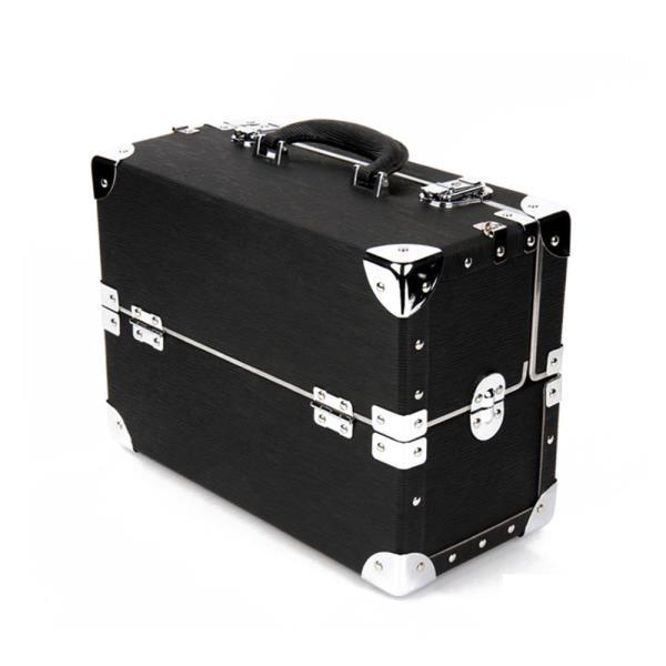 빈티지 감성 고급 메이크업 박스 1P 블랙 수납 가방