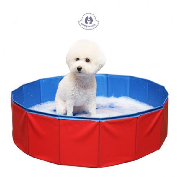 강아지 접이식 욕조 1P 풀장 휴대 애견 수영장