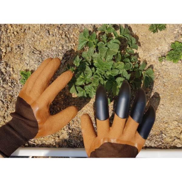 공구설비 원예장갑 한손호미 양손호 ,ABS재질 잡초뿌리 텃밭 라텍스재질 손가락호미 장갑손가락