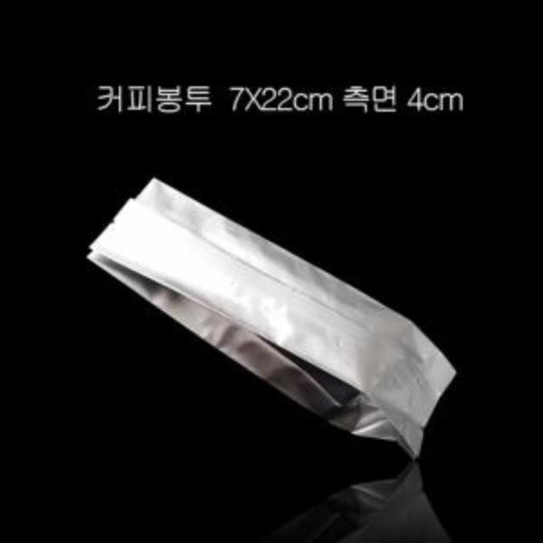 고급형 알루미늄 M형 커피봉투 7X22cm 폭4cm 100매