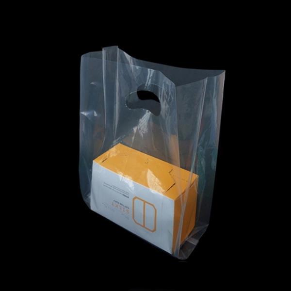 PE M형 투명 쇼핑 팬시봉투 23X35cm 옆면12cm 50매
