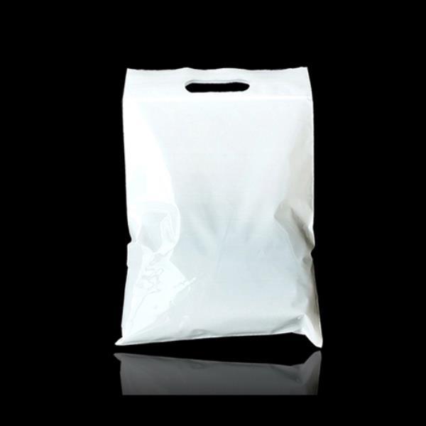 화이트 PE 지퍼식 쇼핑 팬시봉투 30X34cm+6cm 100매