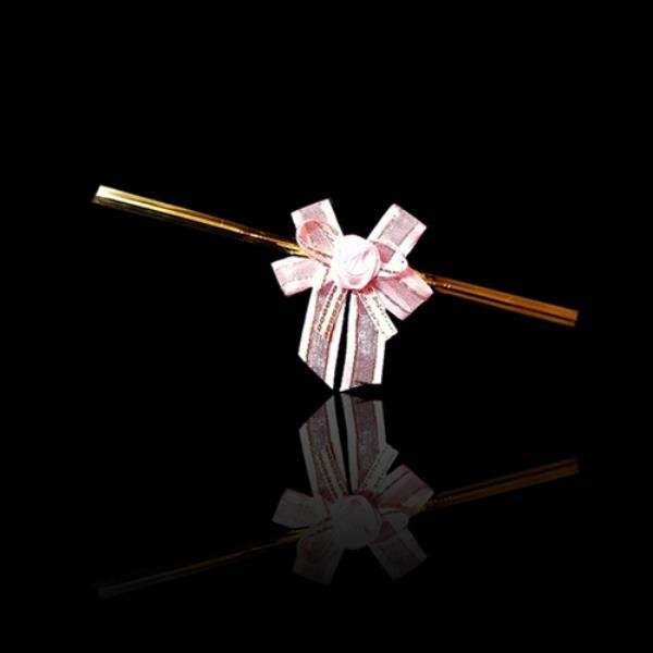 프리미엄 리본 타이 포장용 리본끈 -핑크 20개