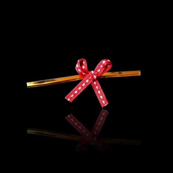 데일리 리본 타이 포장용 리본끈 -레드 100개