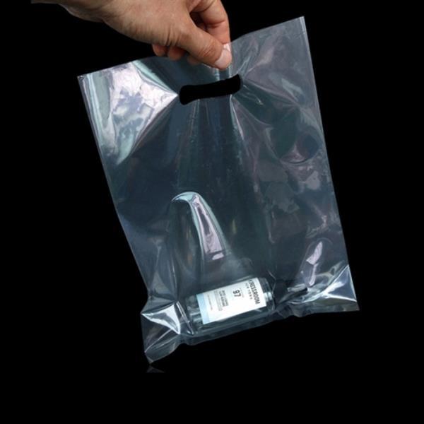 투명 PE 쇼핑 팬시봉투 25X35cm 100매