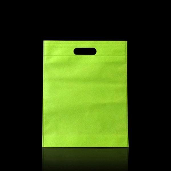 펀칭형 컬러 부직포 가방 -그린 32X34cm 45매