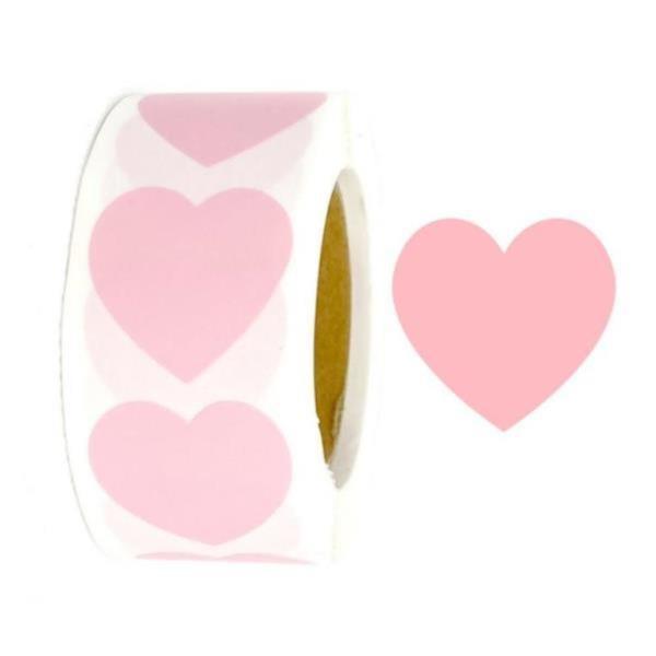 빅사이즈 핑크 하트스티커 3.8cm[424] 대용량500pcs