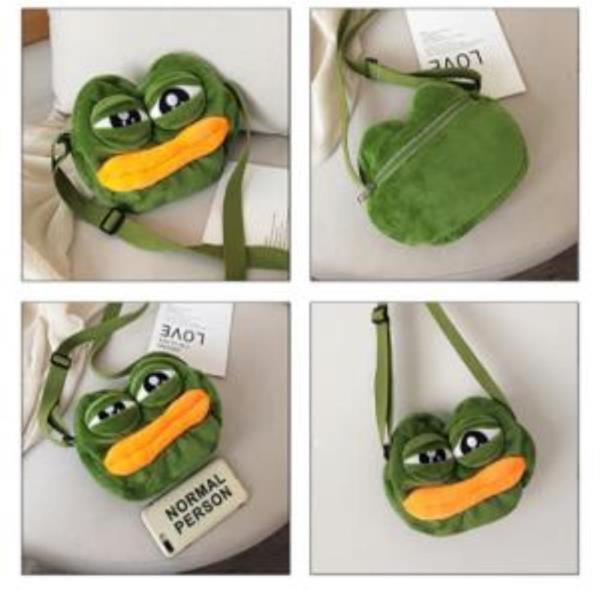귀여운 페페 슬픈 개구리 크로스백