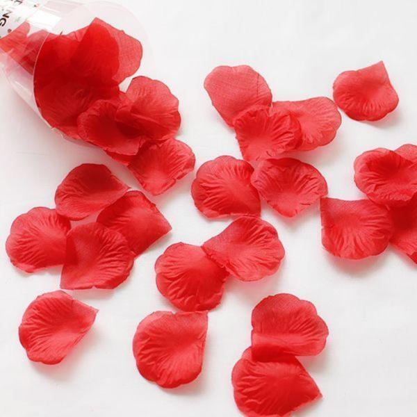 조화꽃잎 레드 100장 - 플라워샤워 실크꽃잎